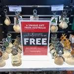 KG106G Kangaroo Scrotum Keyring/ Kg106g Kangaroo Scrotum Keyring MADE AnJ»ade Au^ral,a wa ÎT,n accordance pr°CeN P & W.S. rules anc w' N regulations- XG1°4^,«eOpe Kar  A UNIQUE GIFT FROM AUSTRALIA BUY 4 KANGAROO SCROTUMS AND GET THE 5™ Australian C^Way •Not valid In conjunction with an