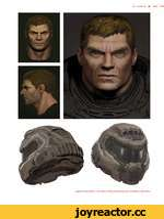 OF EARTH @009 [opposite] Doom Slayer—Alex Palma / [above] Doom Slayer face and helmet—Alex Palma