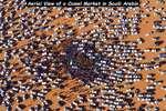 Aerial View of a Camel Market in Saudi Arabia  4 j