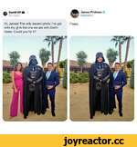 e David GP Q James Fridman O sy @fjamie013 Hi, James! The only decent photo i've got Fixed, with my gf is the one we are with Darth Vader. Could you fix it?